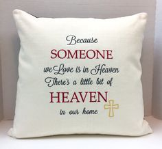 Shirt Pillow Embroidered Memory Pillow Sympathy by CustomMadeByPam                                                                                                                                                                                 More