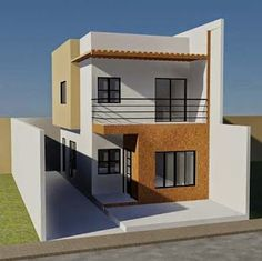 Simple two storey house design