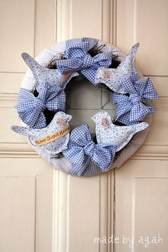 Blue Birds Wreath