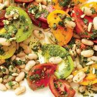 Rainbow Tomatoes and White Beans | rachaelraymag.com