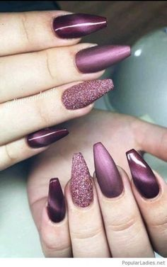 Super Ideas For Summer Manicure Colors Shape Manicure Colors, Gel Manicure, Manicure Ideas, Purple Manicure, Holiday Nail Designs, Best Nail Art Designs, Holiday Nails, Purple Nail Polish, Polish Nails