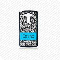 Monogram Phone Case, Damask Pattern LG G3 monogram case, Personalize Lg G3 Case, Monogram LG G3 Cover