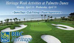 Activities during #RBCHeritage week at Palmetto Dunes resort, Hilton Head Island