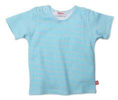 Zutano Baby Short Sleeve Tee Pool Candy Stripe