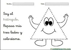 Figuras-geom+®tricas-para-ni+¦os-actividades-Tri+íngulo English Activities For Kids, Preschool Spanish, Learning Spanish, Farm Theme, Spanish Lessons, Spanish Class, Crafts For Kids, Snoopy, Shapes