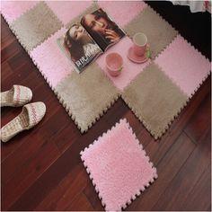 30CMx30CM 1pcs living room bedroom children soft patchwork mat magic cube slip-resistant carpet fashion climbing baby