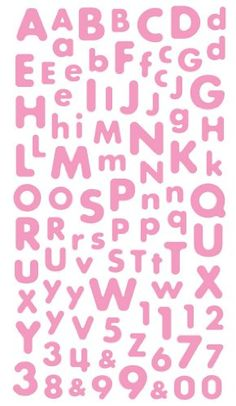 Try This! Sticko Baby Pink Alphabet Sticker Scrapbook Letters, Scrapbook Stickers, Voucher, Alphabet Stickers, Discount Curtains, Kpop, Anger Management, Birthday Shirts, Sewing Crafts