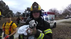 Alabama Firefighters Save a Pit Bull Puppy in a House Fire