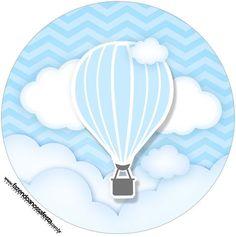 Rótulo Tubete 2 Balão de Ar Quente Azul Kit Festa Balloon Birthday Themes, Birthday Decorations, Imprimibles Baby Shower, Baby Frame, Baby Dedication, Baby Clip Art, Bear Party, Minion Party, Baby Album