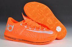 Netherlands Orange - KD 6 Elite Orange/Grey Mens Nike Footwear