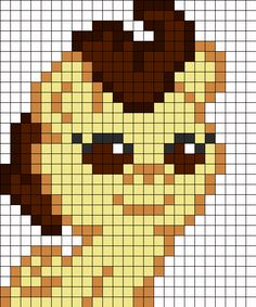 Pound Cake From My Little Pony perler bead pattern