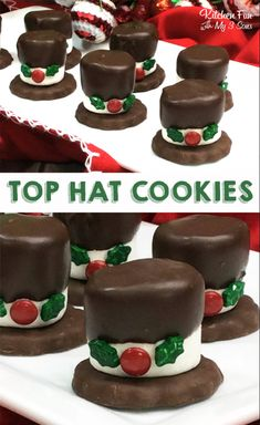 Snowman Hat Cookies – such a fun Christmas treat! Snowman Hat Cookies – such a fun Christmas treat! Christmas Deserts, Christmas Party Food, Xmas Food, Christmas Cooking, Holiday Desserts, Holiday Baking, Holiday Treats, Holiday Recipes, Christmas Foods