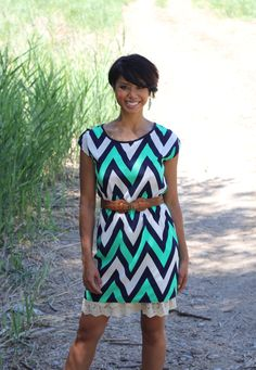 Chic Chevron Dress! #bellaellaboutique