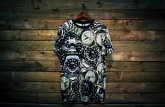 crooks castles goes all in with the all over rolex print-t shirt