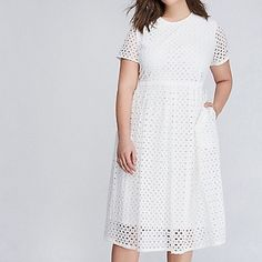 White Midi Dress via Girl With Curves