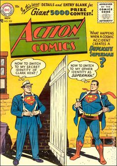 Find deals on rare and collectible comic books. Browse Batman, Captain America, Superman, X-men comics and more. From Manga to Walking Dead, you can find it all here. Old Comic Books, Best Comic Books, Comic Book Covers, Comic Book Characters, Arte Dc Comics, Old Comics, Vintage Comics, Vintage Books, Superman Action Comics