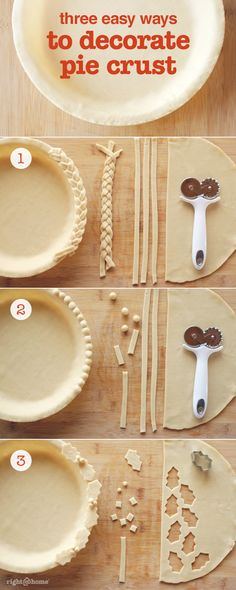 Try these 3 easy pie decorations - perfect for the holidays!