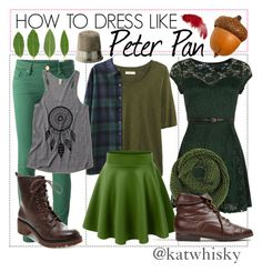 """How to dress like Peter Pan"" by katwhisky ❤ liked on Polyvore featuring Mela Loves London, Madewell, M Missoni, Madden Girl, disney, peterpan, disneybound and disneybounding"