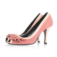 Real Leather Upper Stiletto Heel Pumps/ Peep Toe With Applique Party/ Honeymoon Shoes More Color Available – USD $ 99.99
