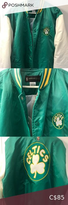 Vintage Boston Celtics Jacket size Large Jacket is in great condition.. Feel free to message me if you have any questions Jackets & Coats Bomber & Varsity Boston Celtics Jacket, Bomber Jacket, Coats, Man Shop, Best Deals, Jackets, Closet, Free, Vintage