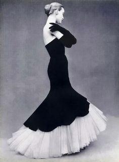 Evening dress by Balenciaga, 1951.