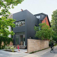 Moderne aanbouw met hout en glas - aanbouw woning