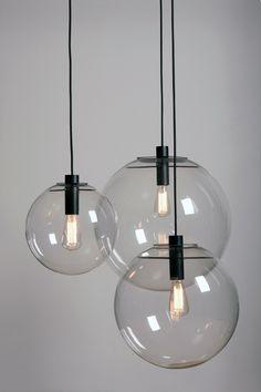 lampa 1 do kuchni Interior Lighting, Home Lighting, Modern Lighting, Interior Styling, Lighting Design, Deco Luminaire, Luminaire Design, Wood Pendant Light, Pendant Lighting