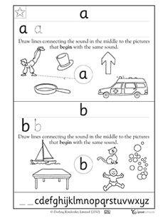 grade, Kindergarten, Preschool Reading, Writing Worksheets: Practicing letters a and b Alphabet Kindergarten, Kindergarten Writing, Kids Writing, Writing Practice, Kindergarten Worksheets, Letter Writing, Hand Writing, 1st Grade Reading Worksheets, Writing Worksheets