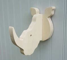 Wall hooks Rhino wall hook: playful plywood by thejunglehook