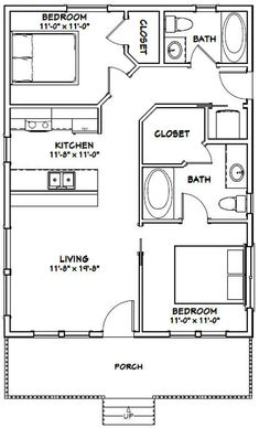 The Plan, How To Plan, Small House Floor Plans, Cabin Floor Plans, Small Cabin Plans, Shotgun House Floor Plans, Small House Plans Under 1000 Sq Ft, 1200sq Ft House Plans, Small Bathroom Floor Plans