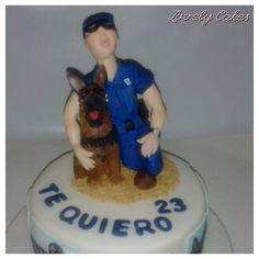 Tarta perro y policía nacional