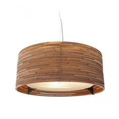 Hanging light by Drum M. Made from cardboard!