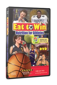 Telly Award Winner Athlete Nutrition Educational Video: Eat To Win: Nutrition For Athletes DVD  $79.95  #Sports #Activity #Schools #Coach #Teacher #Education #Athletes