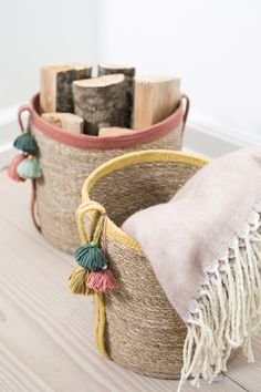 DIY – decoration of baskets - Home Decor ideas French Country Crafts, Diy Inspiration, Boho Nursery, Sisal, Diy Interior, Easy Diy Crafts, Dyi, Handmade Home, Basket