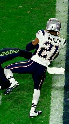 The interception heard around the world! Our team's hero, Malcolm Butler!