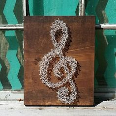 $20 Etsy String Art  String Art Treble Clef  Nail Art  #Handmade by NailedItDesign.etsy.com For the music lover! Great gift idea.