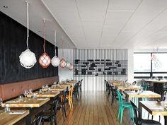Mar is a restaurant in the old harbour area of Reykjavik that has been designed by Hafsteinn Júlíusson and Karitas Sveinsdóttir, of studio HAF, to have an interior with a distinct maritime flavour. Design Bar Restaurant, Cozy Restaurant, Iceland Restaurants, Shop Layout, Shop Interiors, Nordic Design, Interior Design Inspiration, Design Ideas, Retail Design