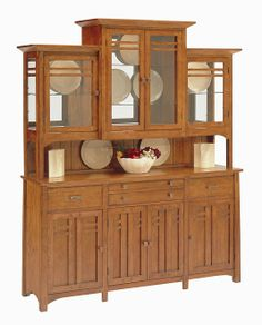 "dining room hutches | 70"" Bungalow Hutch and Buffet: Oak Hutches in Arizona, Oak Buffet in ..."