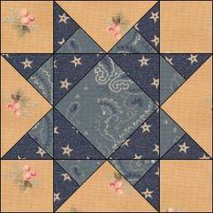 Civil War Quilts: 19 Missouri Star - my Summer quilt pattern.