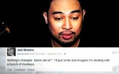 Jed Madela, People in Cagayan de Oro are Monkeys