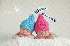 Newborn Baby Twin Kisses Hat Crochet Photo Prop on Etsy, $35.00                                OMG!!!!!!!!!!