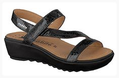 Mobils by Mephisto Women's Franca Wedge Sandal (5 B(M) US, Black Ice) (*Partner Link)