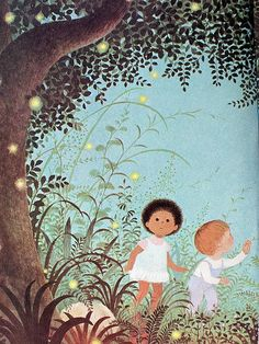 fireflies illustration by Gyo Fujikawa