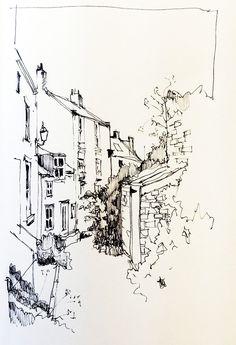 Venue and landscape sketch and illustration. Illustration Sketches, Art Sketches, Art Drawings, Pencil Drawings, City Sketch, Pen Sketch, Photocollage, Urban Sketchers, Sketch Painting
