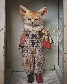 Annie Montgomerie's Surreal, Anthropomorphic Figures - Mandeep Madden Dolls Photo Polaroid, Photocollage, Toy Art, Arte Pop, Creepy Cute, Soft Sculpture, Fabric Dolls, Doll Toys, Sock Dolls