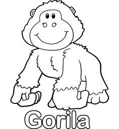 colorear-dibujo-de-gorila.gif 505×550 píxeles