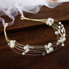 Elegant Gold Headbands Bridal Hair Accessories 2020 Beading Pearl Lace-up Headpieces Wedding Accessories Headpiece Jewelry, Headpiece Wedding, Hair Jewelry, Bridal Jewelry, Diy Hair Accessories Bridal, Accesorios Casual, Pearl And Lace, Diy Hair Bows, Bijoux Diy