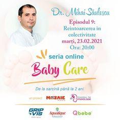 Marți, 23 februarie, la ora 20, ne vedem la o nouă conferință BabyCare, pe facebook Pagina de Psihologie. Vorbim despre cum să ne protejăm copiii la întoarcerea în colectivitate, cu dr. Mihai Săulescu, medic primar ORL. Parteneri: GripVis, Aquatique;