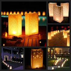 A beautiful way tu iluminate your house, garden or a party.