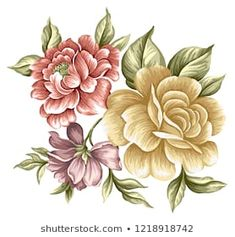 Find Floral Bouquet Design Garden Pink Peach stock images in HD and millions of other royalty-free stock photos, illustrations and vectors in the Shutterstock collection. Vector Flowers, Botanical Flowers, Pink Flowers, Flower Images, Flower Art, Fabric Paint Designs, Victorian Flowers, Leaf Wall Art, Flower Wallpaper